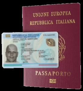 Meu Passaporte e Carteira de Identidade Italianos