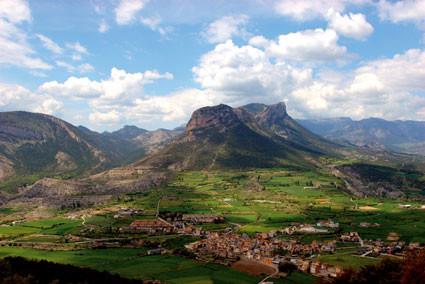 O vale de Organyà na Catalunya