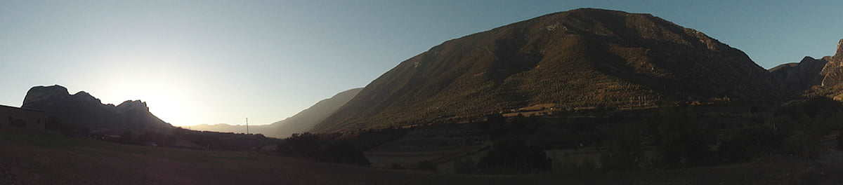 Panorâmica do vale de Organyà na Catalunya